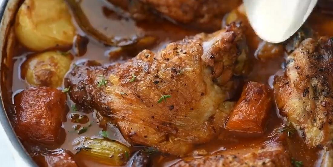 Mijoté de poulet et de légumes