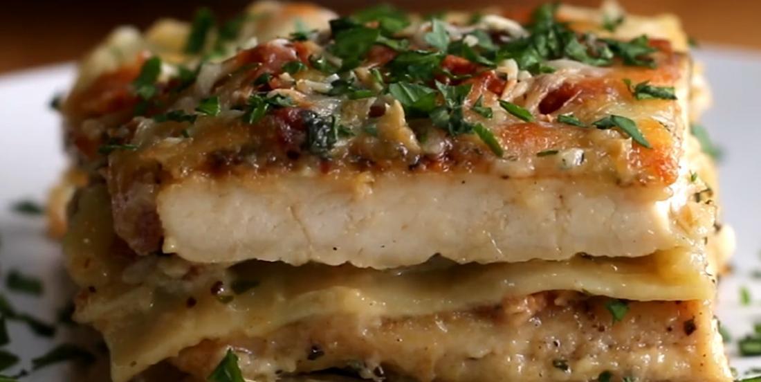 Savoureuse lasagne au poulet Alfredo