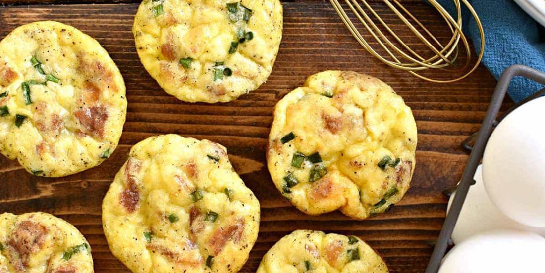 Muffins aux oeufs parfaits pour le déjeuner