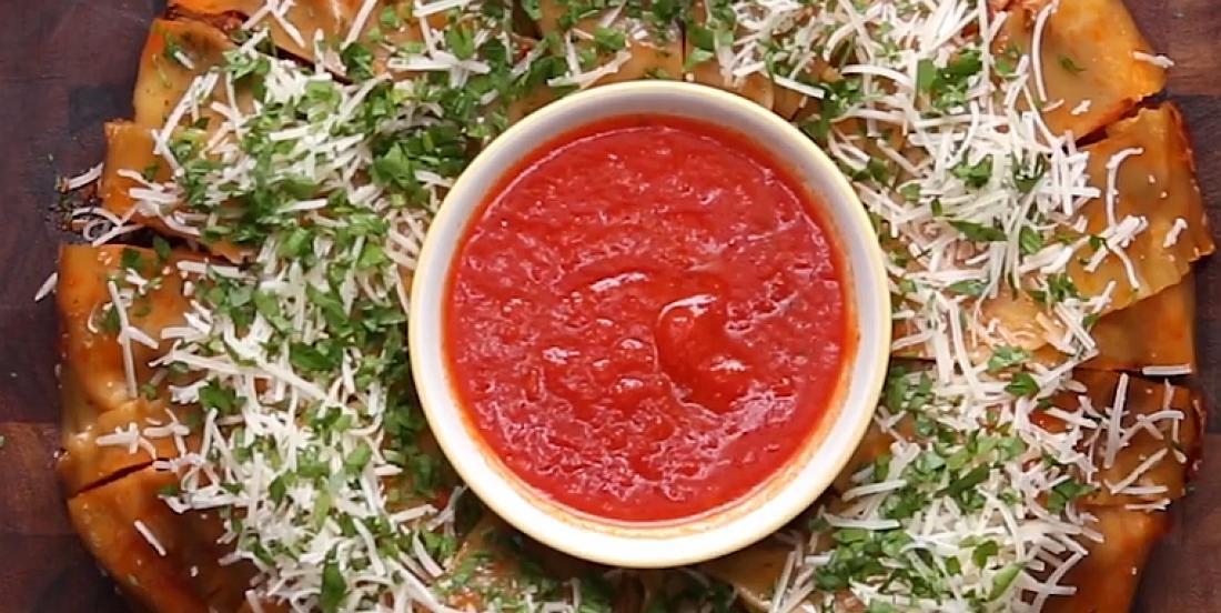 Une couronne de lasagne pour apprêter autrement la traditionnelle lasagne