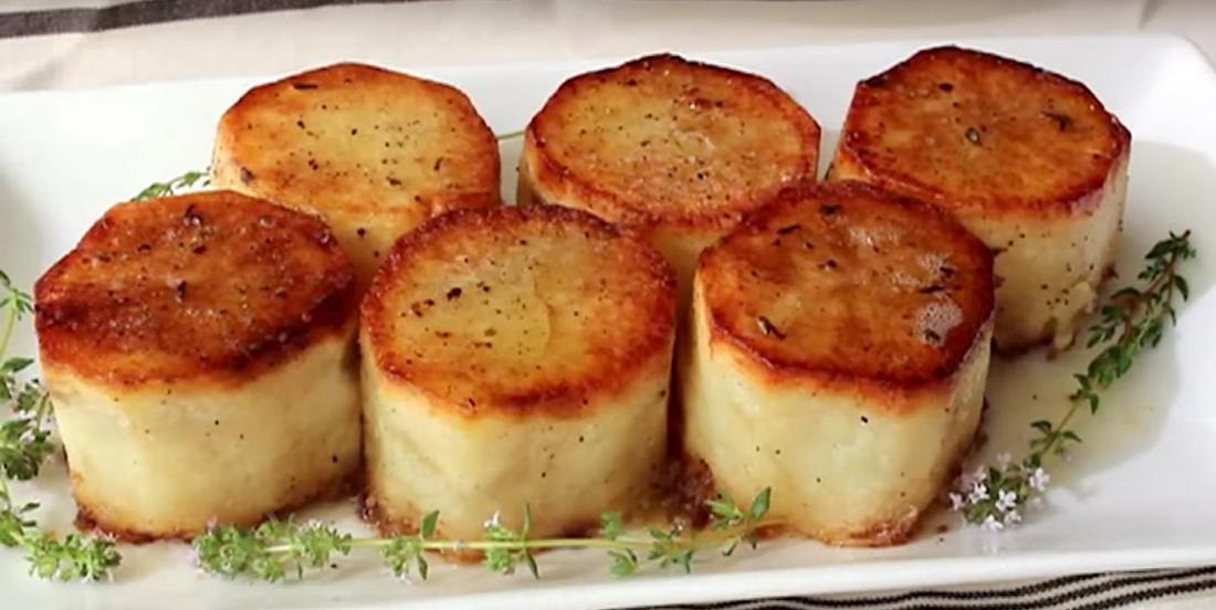 Pommes de terre fondantes et croustillantes