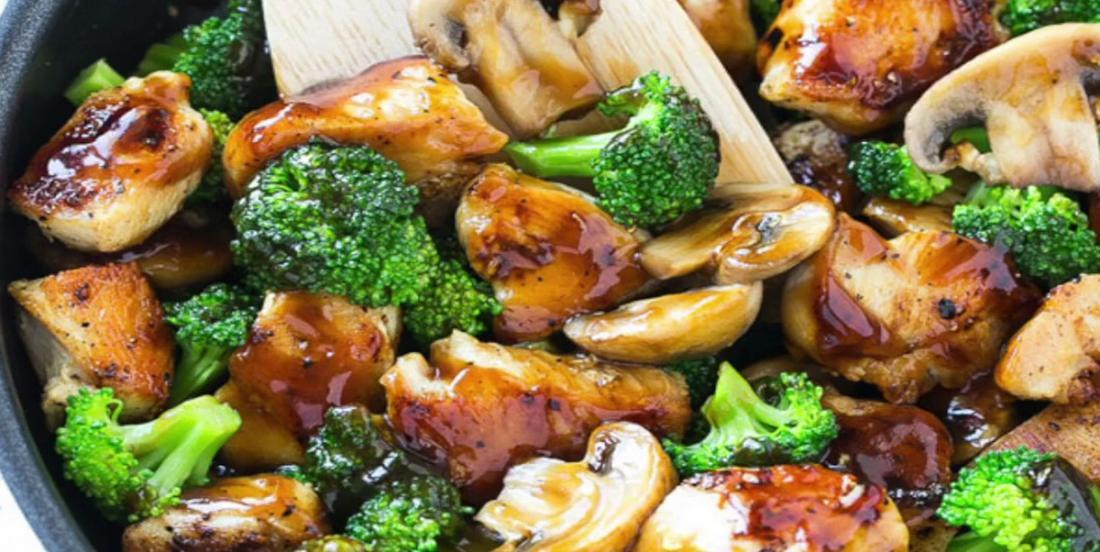 Poulet, brocoli et champignons pour un souper parfait