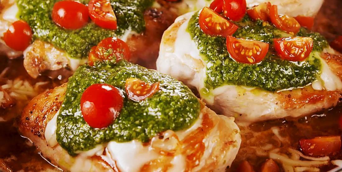 Poulet margherita inspiré de la cuisine traditionnelle italienne