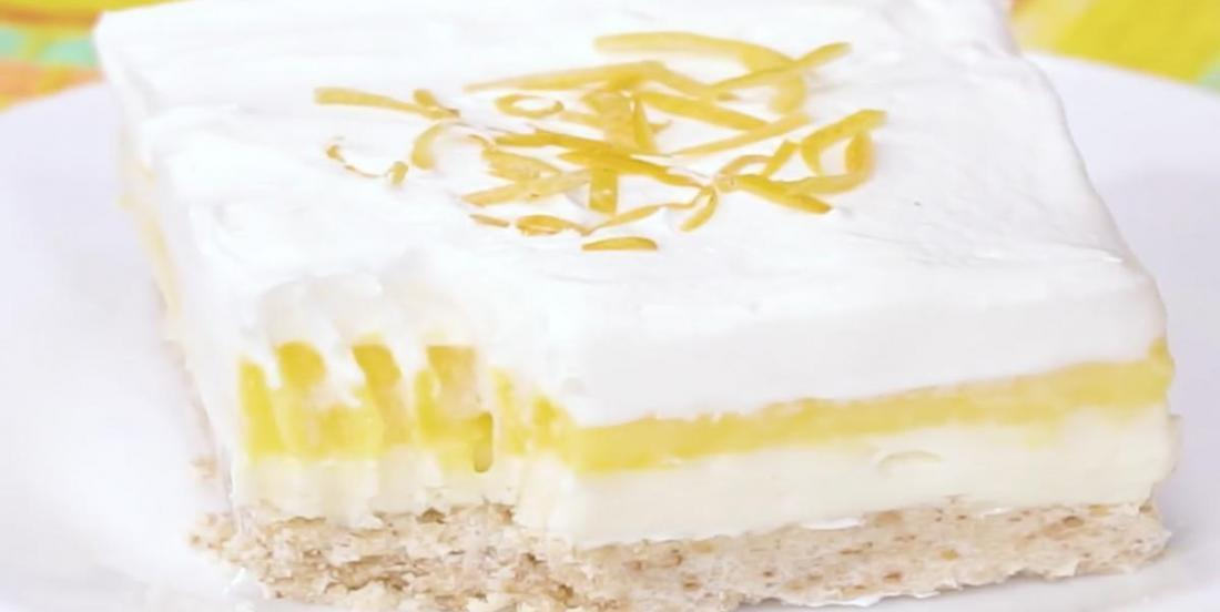 Un dessert citronné frais, léger et onctueux