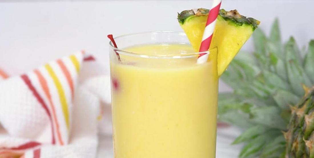 Slush estivale au rhum et ananas
