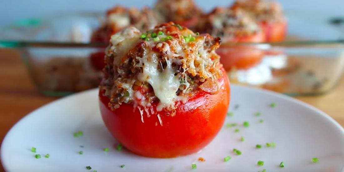 Tomates farcies au boeuf haché