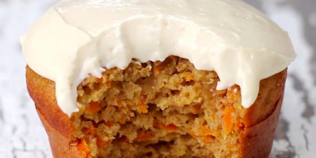 Cupcakes aux carottes faibles en gras