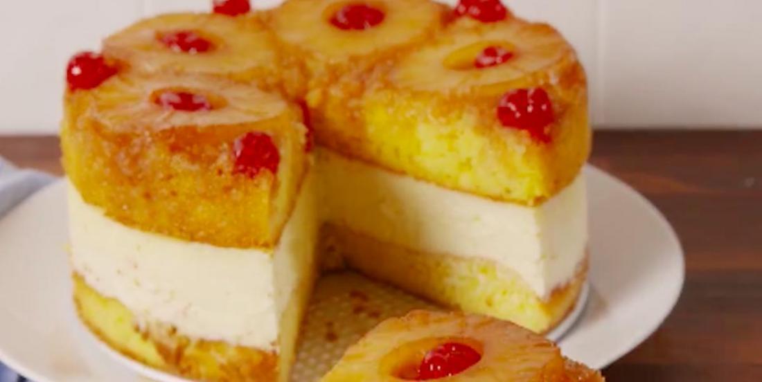 La perfection se retrouve dans ce gâteau au fromage aux ananas!