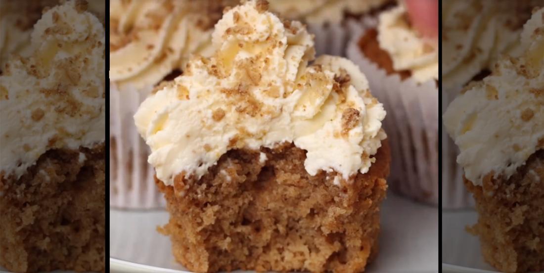Cupcake façon crumble aux pommes, un petit gâteau à tester de toute urgence!