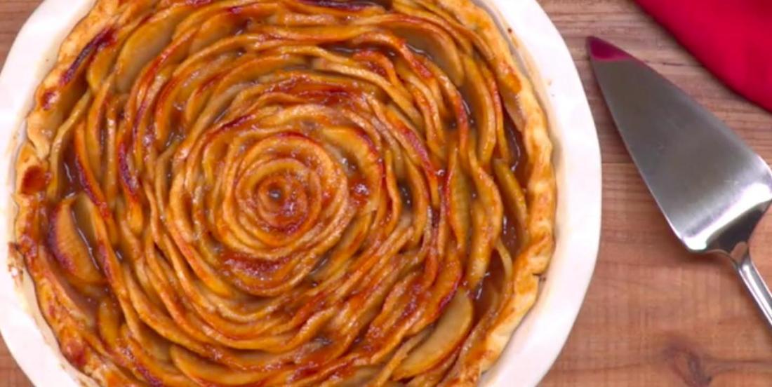 Spectaculaire! Une tarte aux pommes en forme de rose!