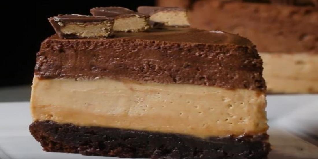 Gâteau mousse chocolat et beurre d'arachide