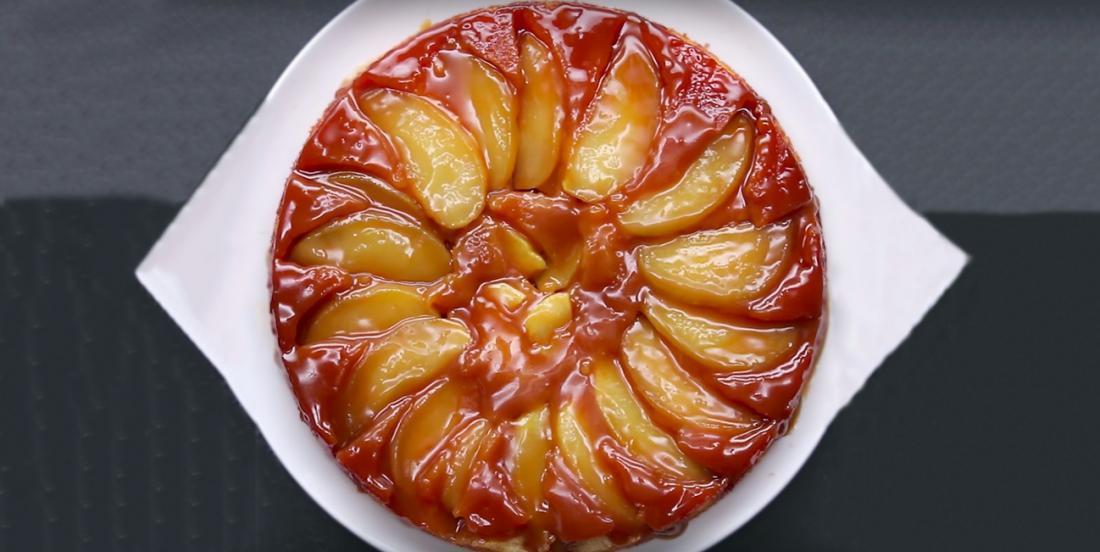 Tarte aux pommes renversée au caramel fondant... Vous n'avez jamais rien mangé de tel!