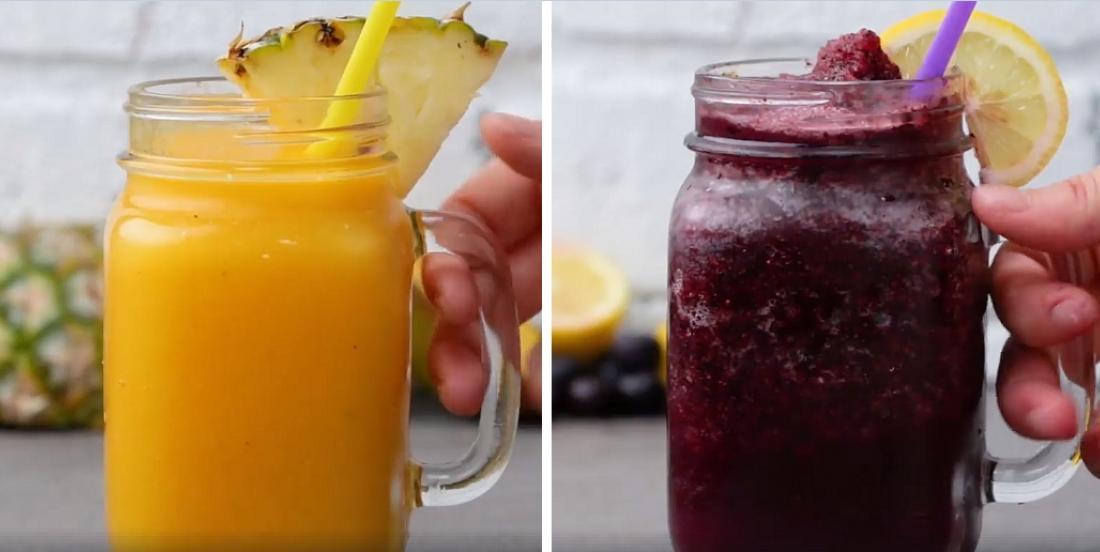 4 barbotines aux fruits, rafraîchissantes et sans sucre ajouté