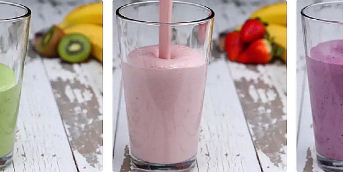 4 préparations à smoothies colorés à congeler à l'avance