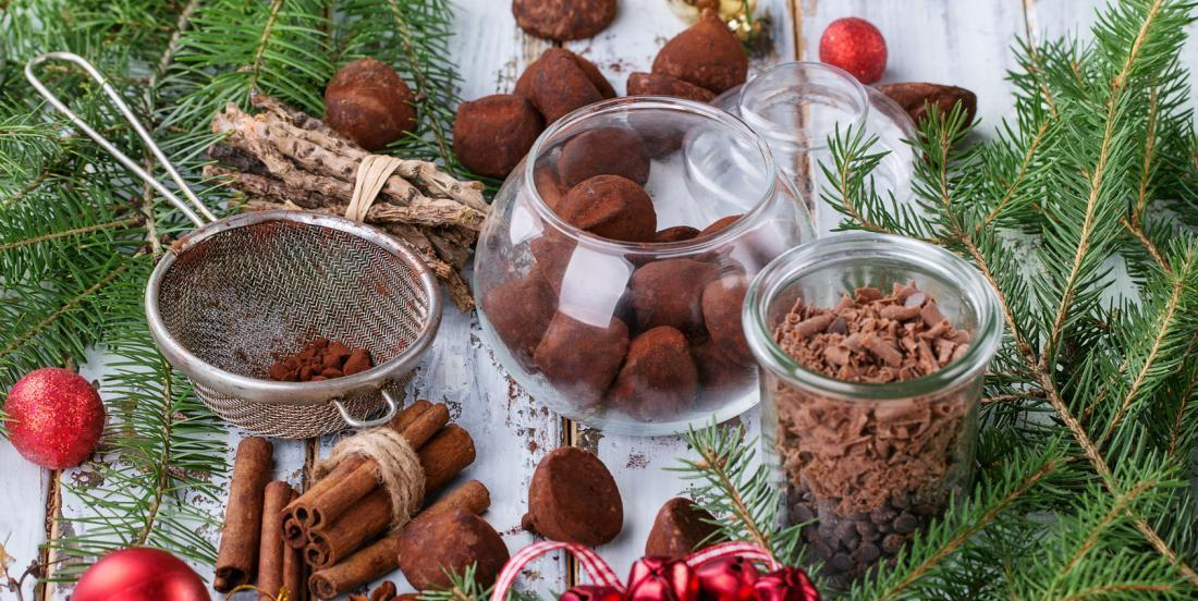 Truffes chocolatées de Noël au Baileys