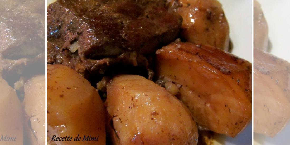 Boeuf à la moutarde de Dijon et patates jaunes à la mijoteuse... un bon vieux classique!