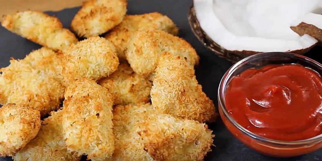 Bouchées de poulet croustillant à la noix de coco