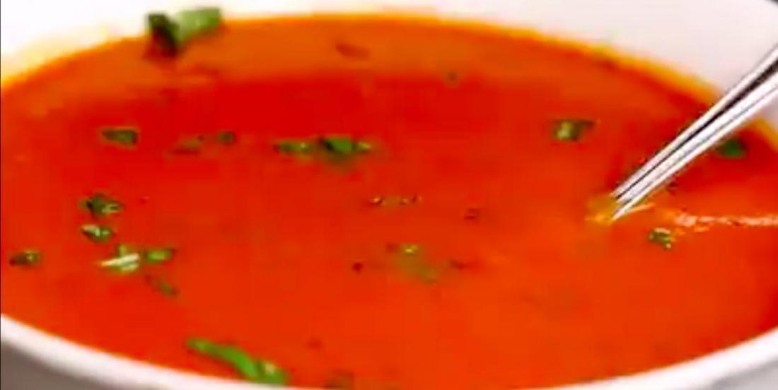 Soupe crémeuse tomates et basilic