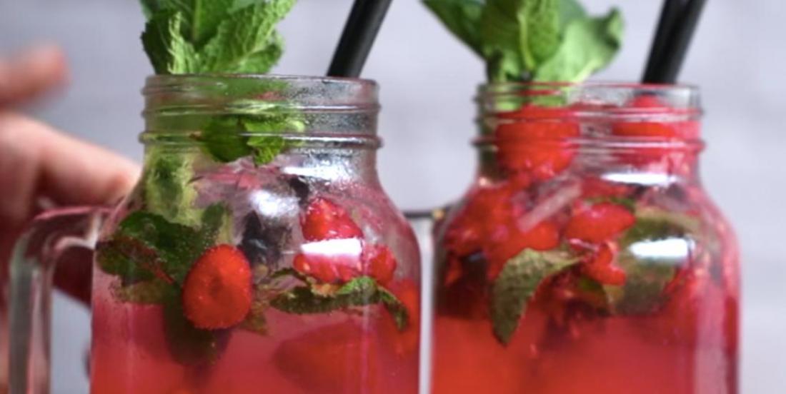 Cocktail à la framboise et au gingembre