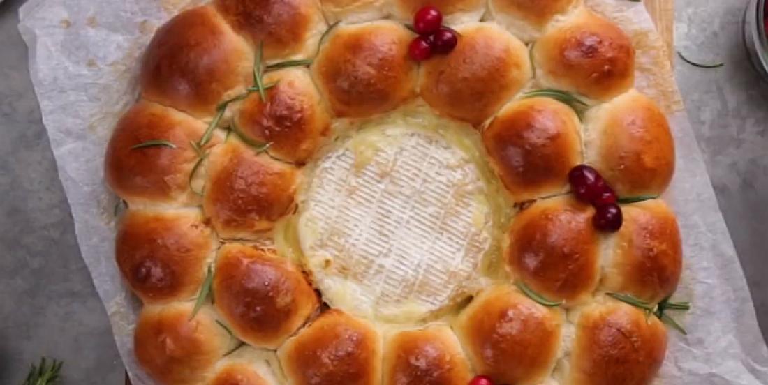 Couronne de pain brioché surprise avec brie fondant
