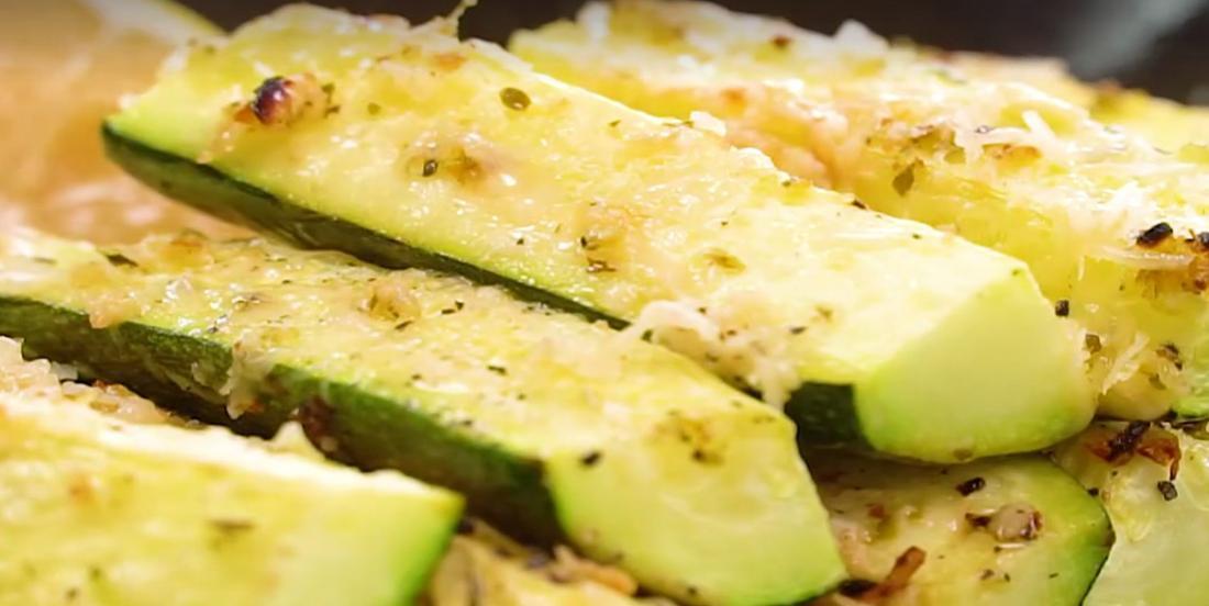 Courgettes grillées à l'ail et au parmesan