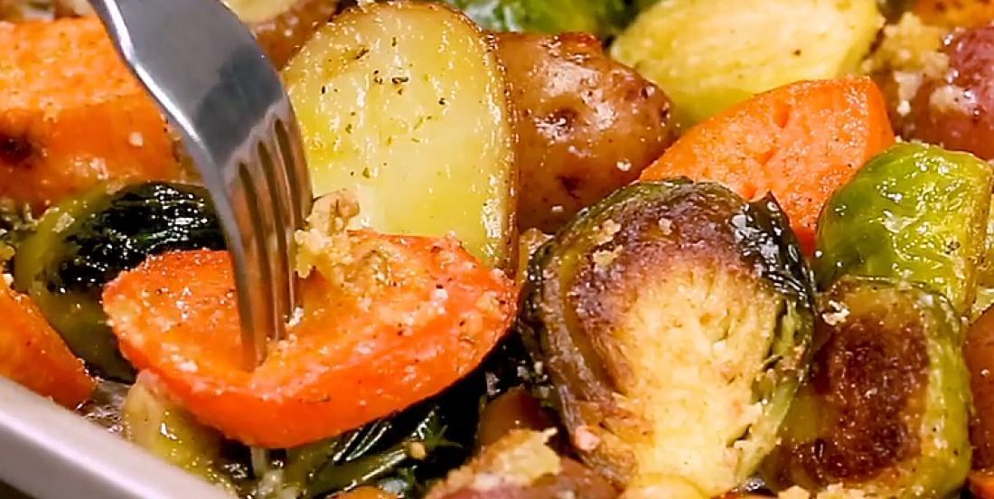 Légumes croquants rôtis au four