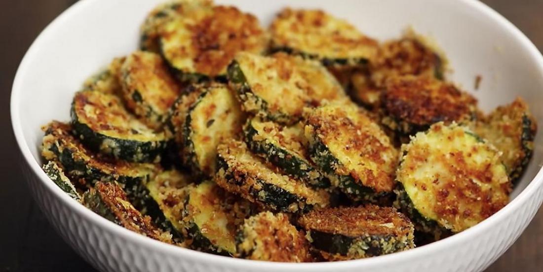 Croustilles de zucchini au parmesan