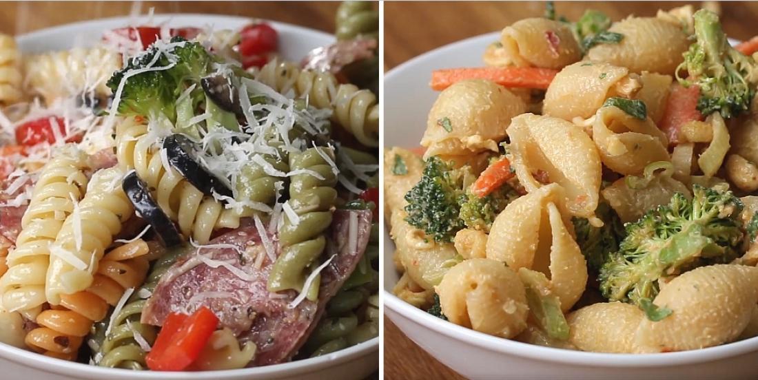 4 fabuleuses recettes de pâtes pour vos réceptions ou vos lunchs