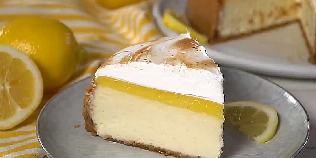 Gâteau au fromage citron-meringue