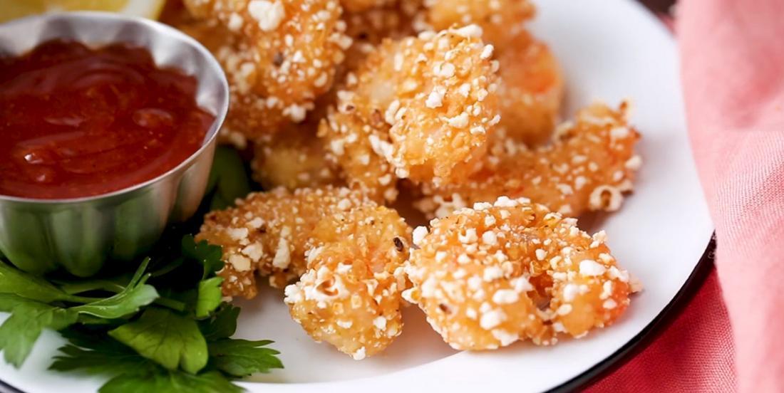 On a complètement revisité les traditionnelles crevettes popcorn!