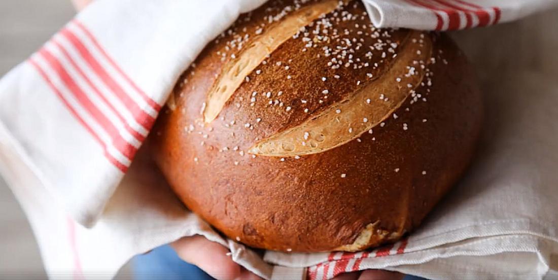 Miche de pain moelleux façon bretzel