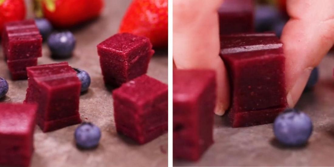 Bouchées de fruits (et de légumes!) pour remplacer les bonbons