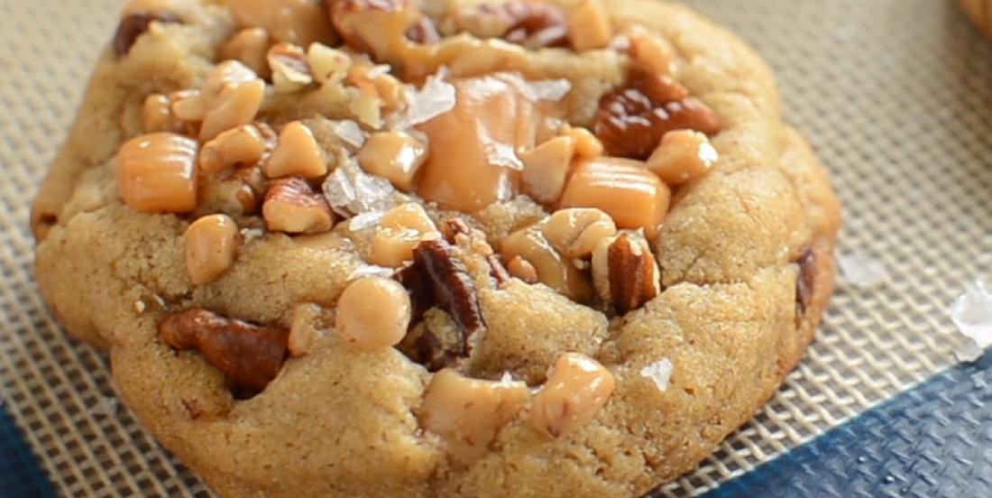 Les meilleurs biscuits au caramel salé et aux pacanes croquantes
