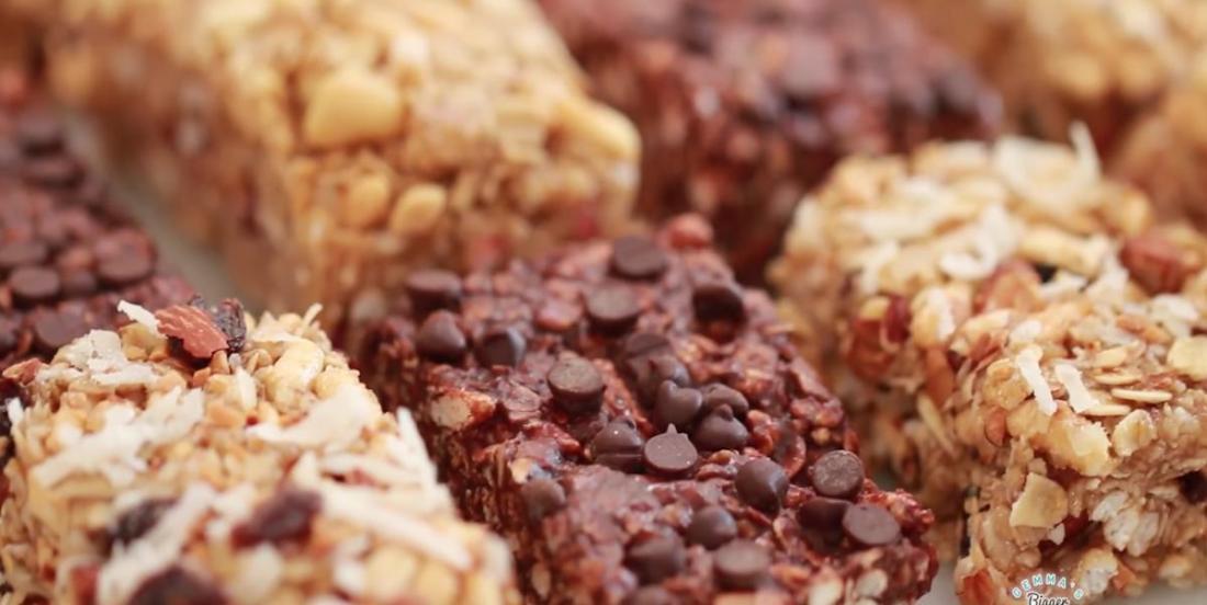 3 saveurs différentes de barre granola maison