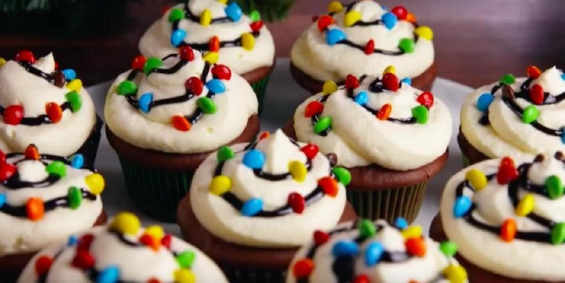Pour les Fêtes, on habille nos cupcakes de guirlandes lumineuses!
