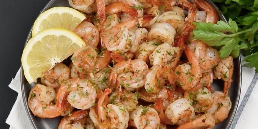 Savoureuses crevettes épicées à l'ail