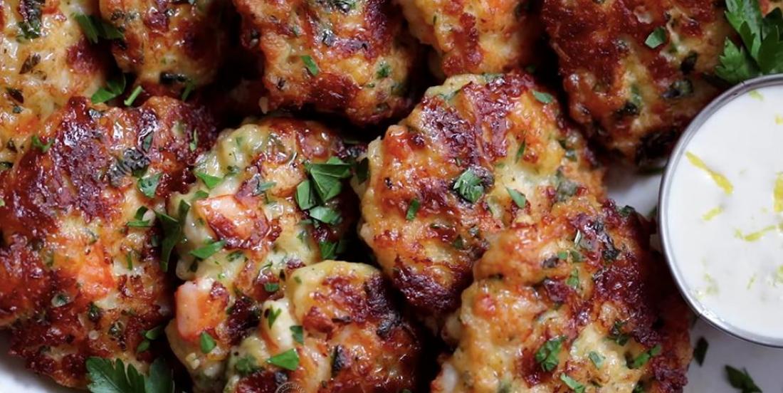 Crevettes en pain et sauce à l'aioli
