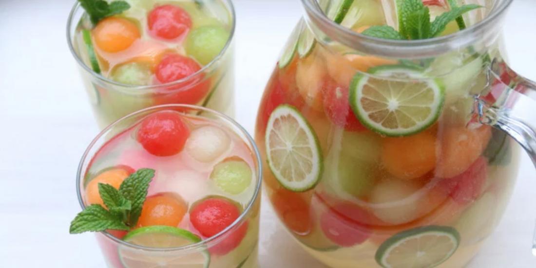 Recette hallucinante de sangria au melon ainsi que sa version sans alcool