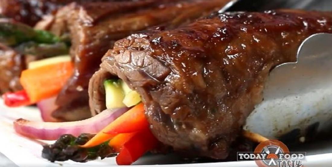 Rouleaux de bifteck et de légumes à la sauce teriyaki
