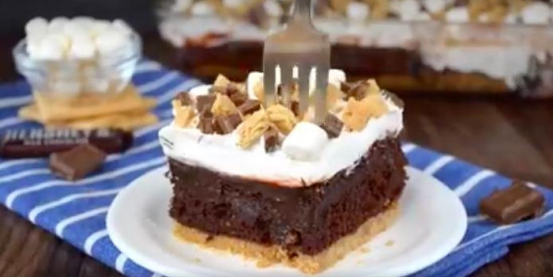 Décadent gâteau fondant au chocolat et aux S'Mores