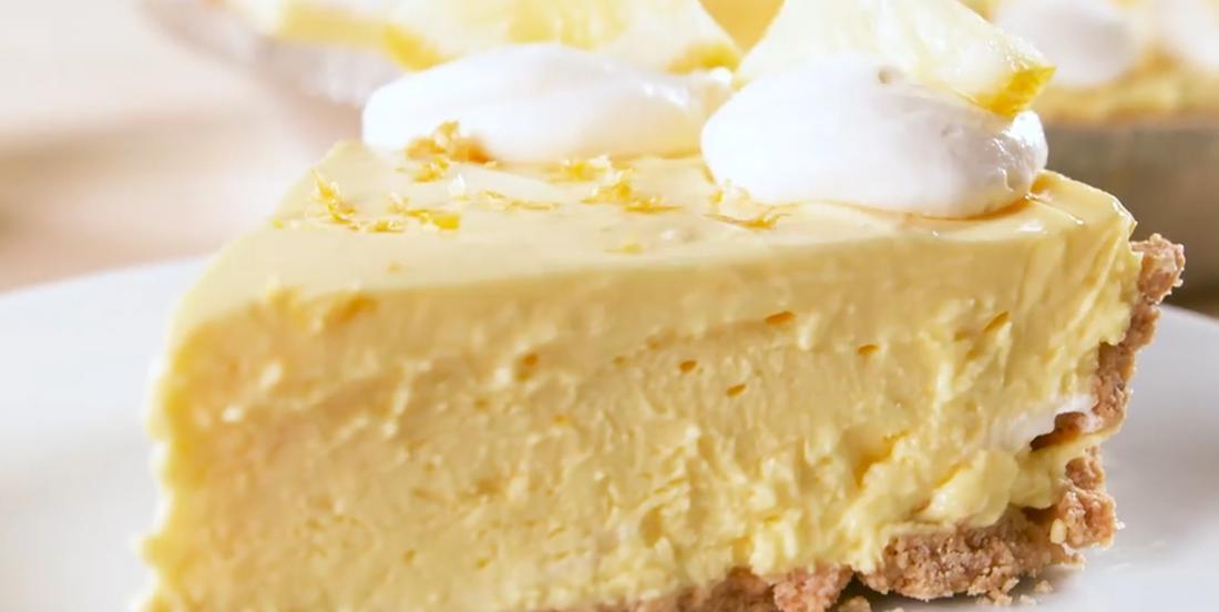Tarte au fromage à la crème à saveur de limonade