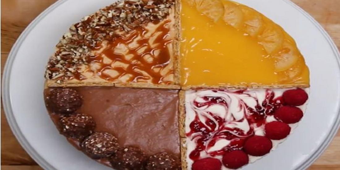 Gâteau au fromage quatre saveurs