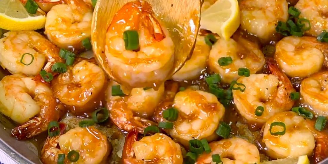 Crevettes marinées à l'ail et au miel