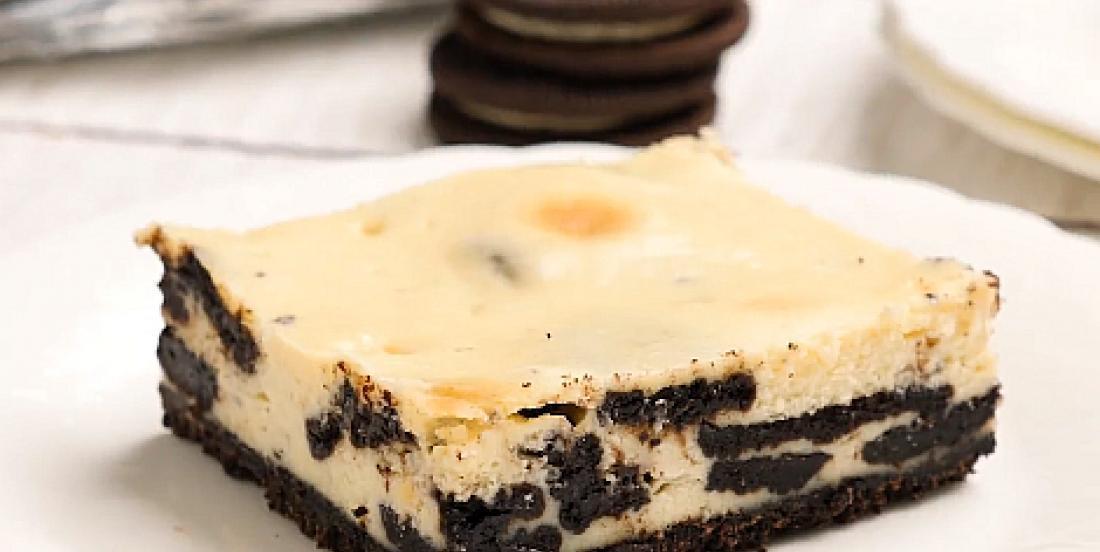 Barres au fromage à la crème aux biscuits Oreo