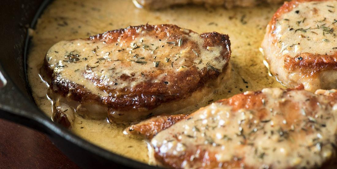 Côtelettes de porc à la sauce crémeuse