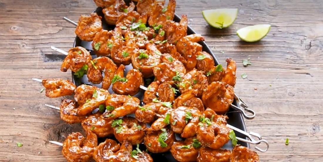 Crevettes épicées à la lime