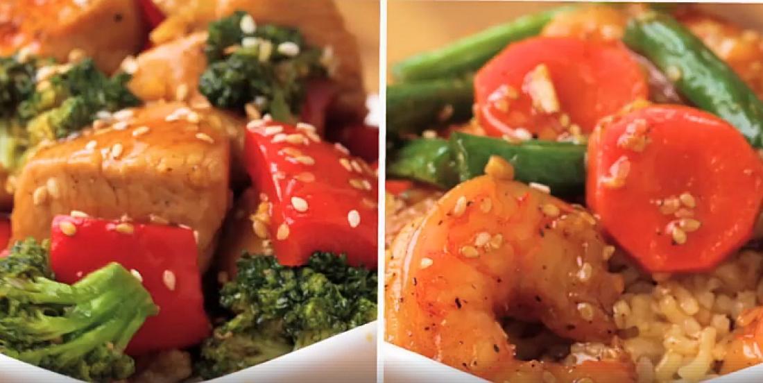 4 sautés rapides au choix : boeuf, poulet, porc ou crevettes