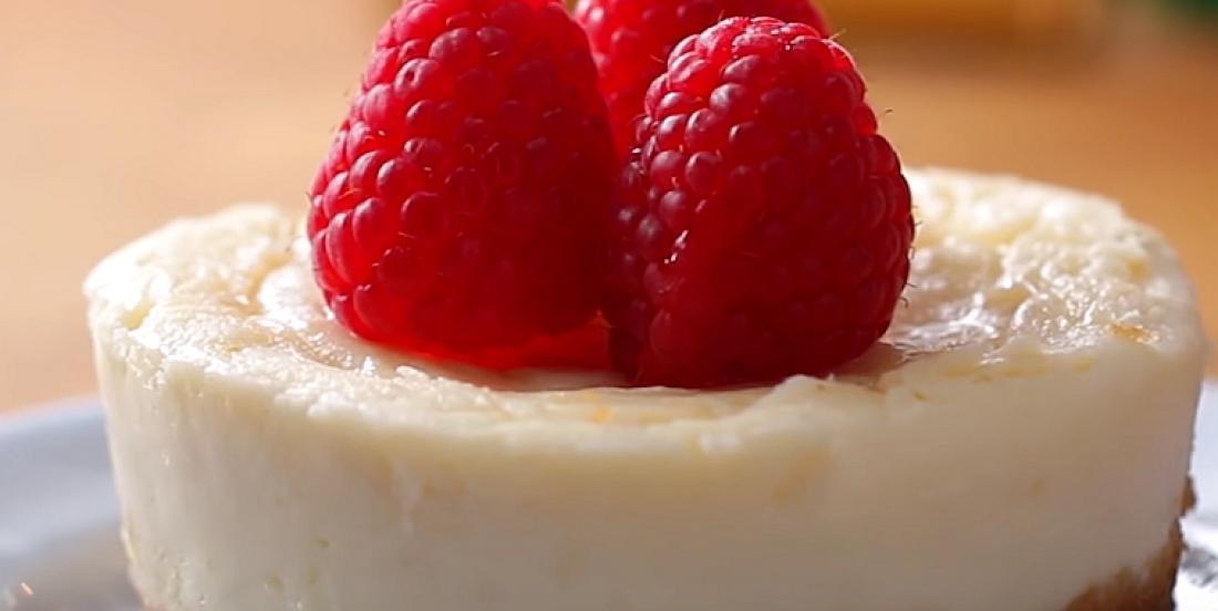Mini gâteau au fromage prêt en un rien de temps au micro-ondes