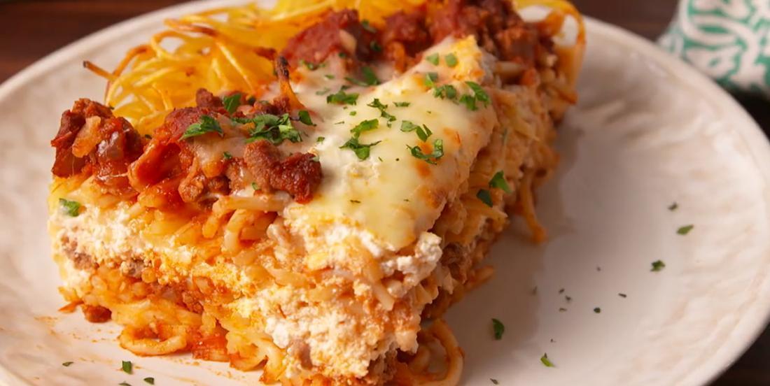 Lasagne aux spaghettis