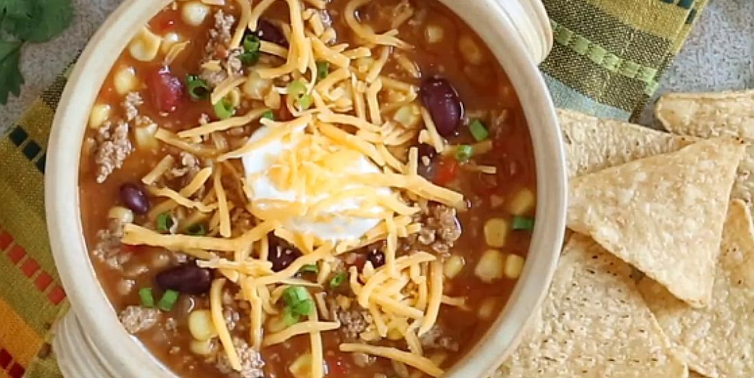 Soupe à la dinde façon chili épicé prête en 20 minutes